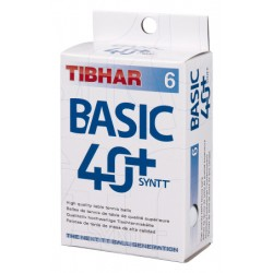 Bola 40+ Tibhar SynTT Basic White
